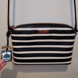 Kate Spade Hanna Purse/crossbody, black and white